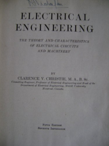 electrical engineering / clarence v. christie (1938)