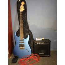 Guitarra Electrica Washburn Amplificador 15 Watts Afinador