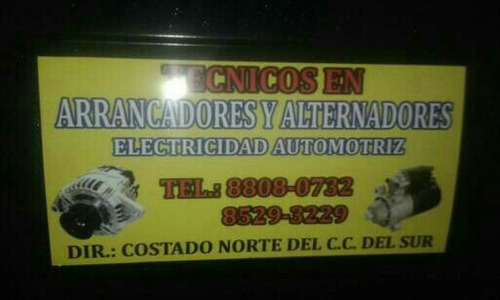 electricidad automotris todo pais arrancadores  alternadores