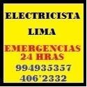 electricista 24 hrs surco san borja miraflores chorrillos.