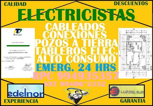 electricista atiende emergencias dia y noche 2767343 en lima