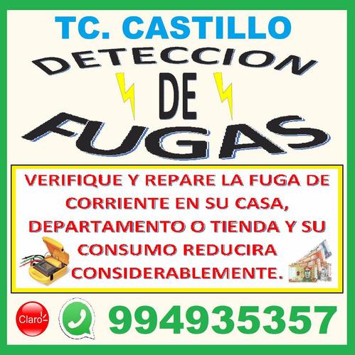 electricista deteccion de fugas miraflores san borja- lima