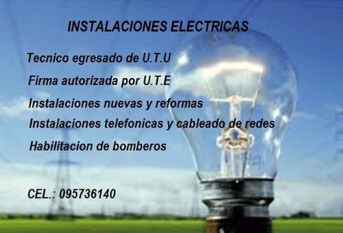 electricista/ electricidad/tecnico en instalaciónes