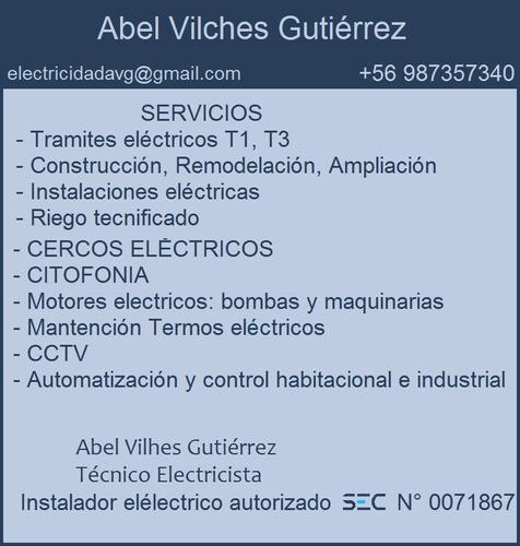 electricista, eléctrico autorizado sec