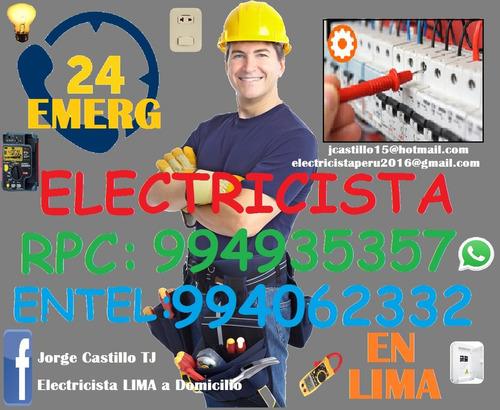 electricista lima miraflores surco emergencias fugas megados