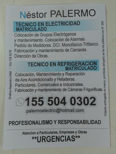 electricista matric. - instalac. de a. acondic.