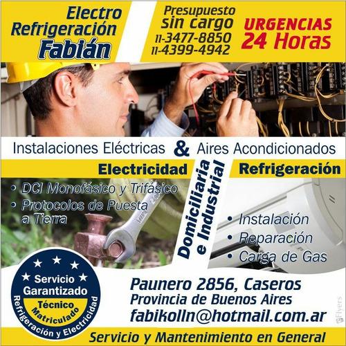 electricista matriculado capital y provincia t1 , t2