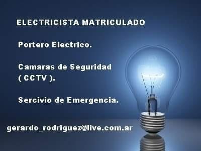 electricista matriculado / cctv / control de acceso