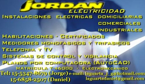 electricista matriculado, certificados dci, edesur