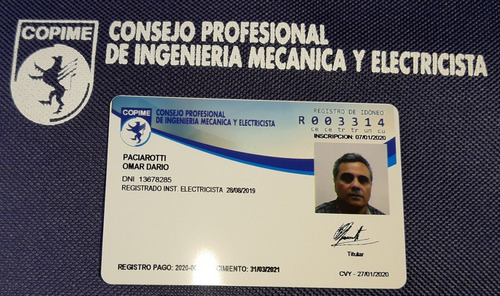 electricista matriculado copime
