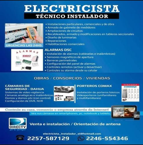 electricista matrículado - costa atlantica - mar del tuyú