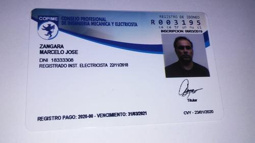 electricista matriculado en caba también redes y cctv