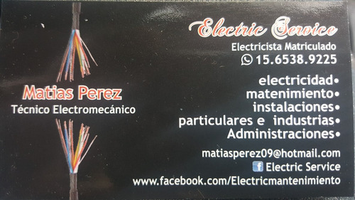 electricista matriculado instalaciones reparaciones