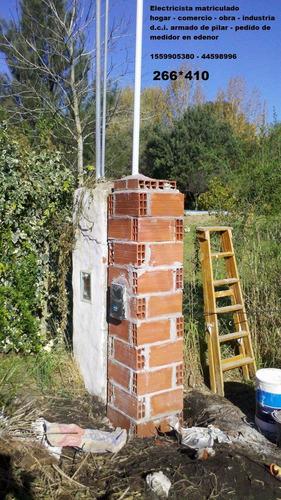 electricista matriculado moreno dci oeste edenor pilar  mp