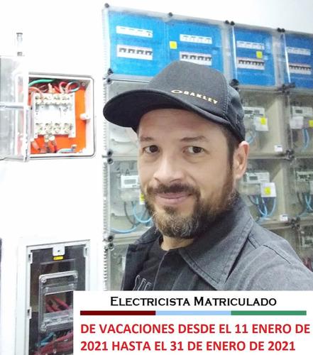electricista matriculado zona norte y caba