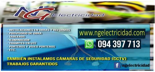 electricista técnico aut.ute instalaciones camaras cctv