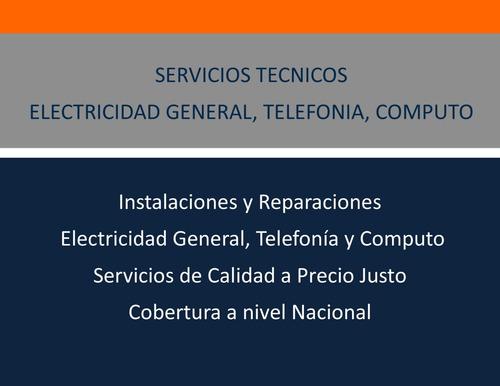 electricista tecnico telefonia y datos del tec