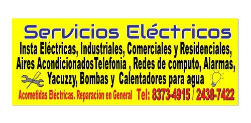 electricista y fontanero. emergencias 24 / 7. tel. 8373-4915