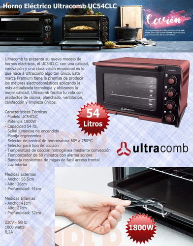 electrico ultracomb horno