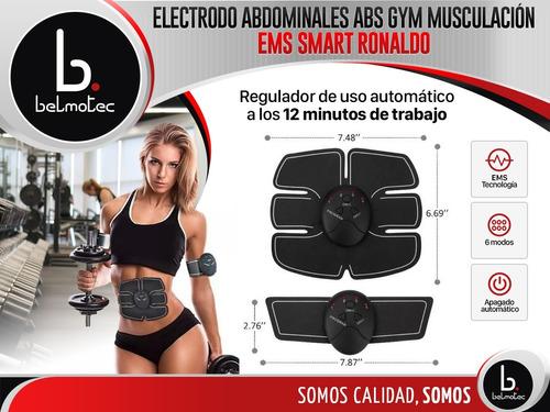 electro estimulador abdominal abs gym musculación ems smart