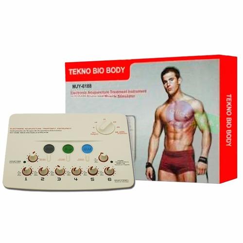 electro estimulador tekno bio body 12 parches envios a casa