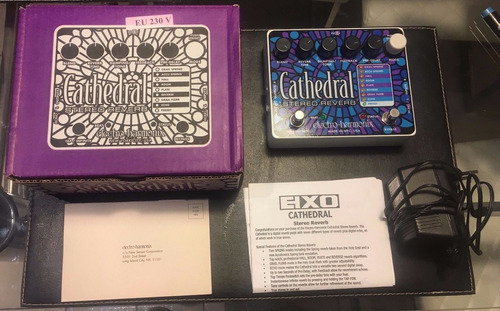 electro harmonix cathedral stereo reverb pedal -. efectos