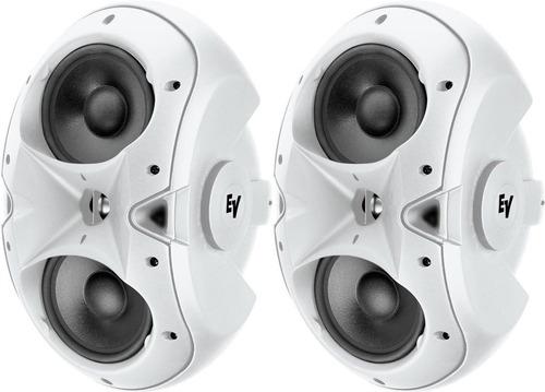 electro voice evid 3.2 parlantes de superficie (par) blancos