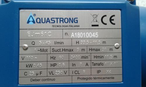 electrobomba acero inoxidable 0.6 hp