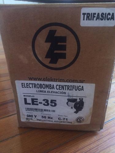 electrobomba centrífuga línea elevación/ modelo le-35- trifá