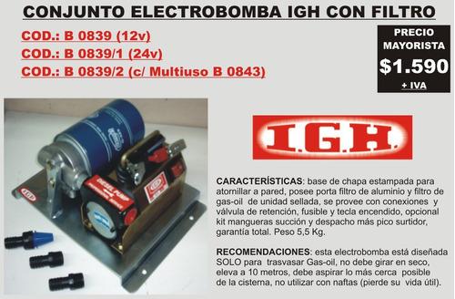 electrobomba igh 12/24 v. c/filtro (b0839)
