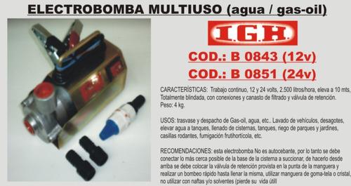 electrobomba multiuso igh 12/24 volt (b0843) casillas