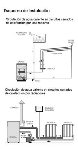 electrobomba rowa 12/1 220v circuladora caldera calefa cuota