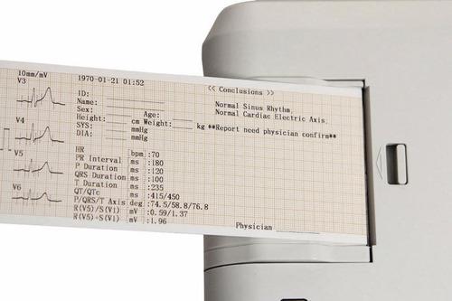 electrocardiógrafo digital 3 canales lead ecg, usb pc softw