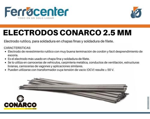 electrodo 2.5 mm esab conarco 13 a punta azul x kg - oferta!