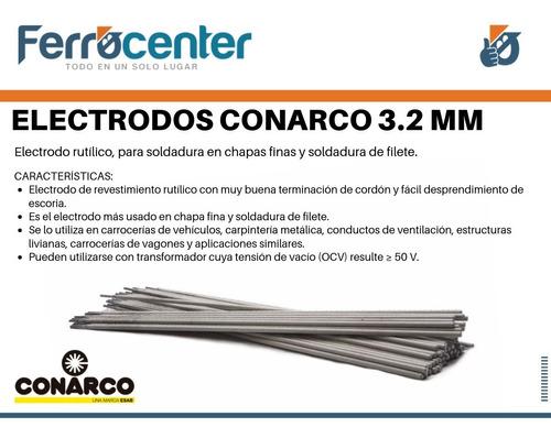 electrodo 3.2 mm esab conarco 13 a punta azul x kg - oferta!