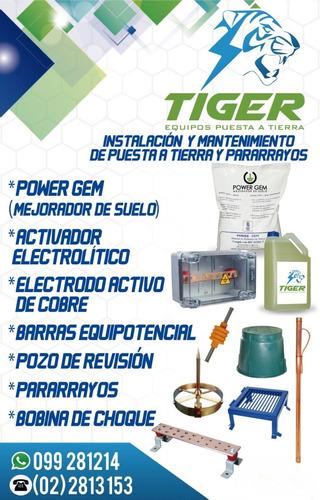 electrodo activo 100% cobre tiger puesta a tierra gem gel
