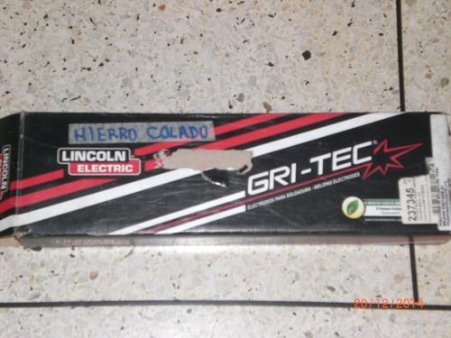 electrodo lincoln gricast 1 hierro colado 1/8 unidad