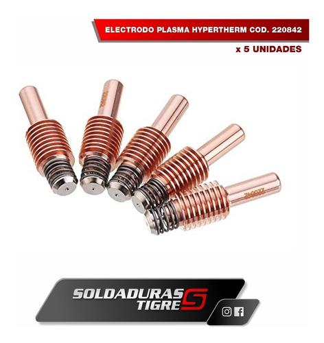 electrodo plasma original hypertherm x 5 unid cod. 220842
