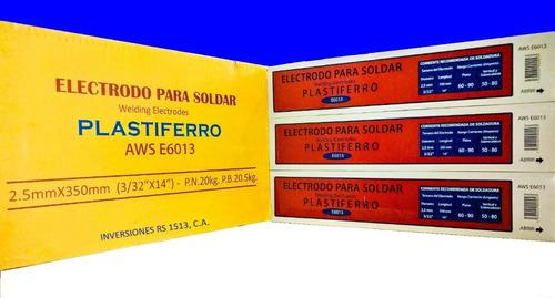 electrodos 6013 3/32 1/8 plastiferro importados detal/mayor