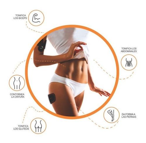 electrodos abdominales gym muscular smart estimulador fitnes