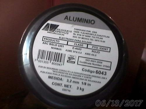 electrodos aluminio 1/8 por unidad