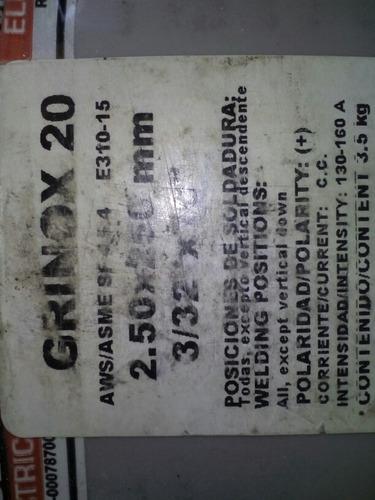 electrodos grinox 3/32x10 marca lincoln