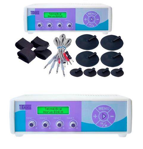 electroestimulador 4 electrodos aera ondas rusas y cuadradas