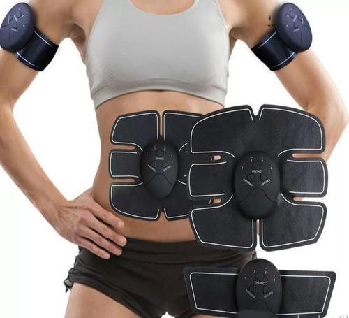 electroestimulador abdomen y brazos 10 electrodos tonifica