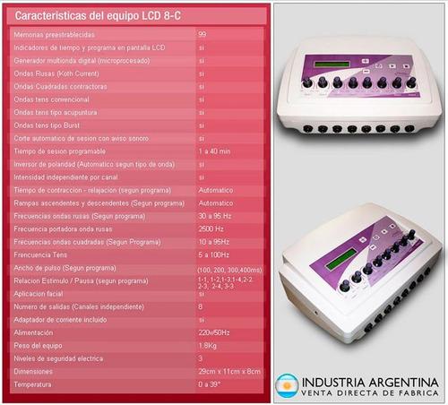 electroestimulador maquina 16 electrodos multi ondas rusas