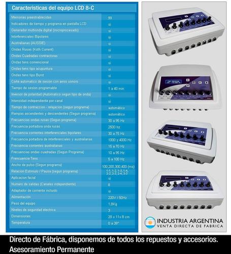 electroestimulador maquina de electrodos 16 ondas rusas