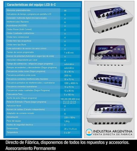 electroestimulador maquina electrodos reductor ondas rusas