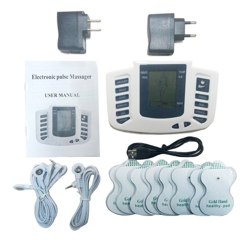 electroestimulador muscular con 12 electrodos + envío
