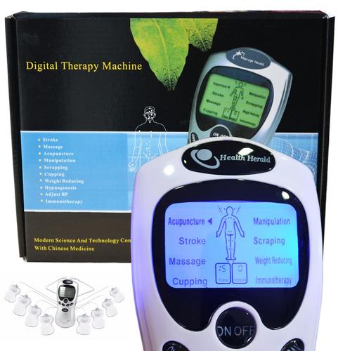 electroestimulador portátil de 8 electrodos recargable 220 v