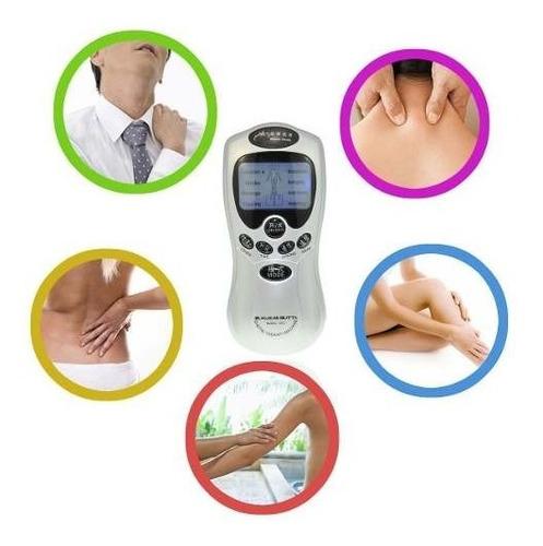 electroestimulador portatil tens masajeador 8 parches usb